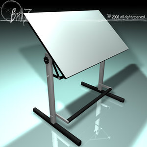 3d model drawing table