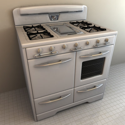 cinema4d vintage stove era