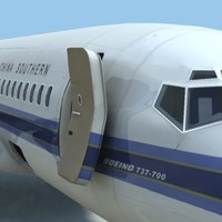 3d model of 737-700 china southern