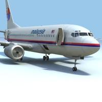 3d model 737-700 malaysia w interior