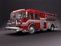 3d emergency truck