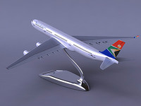 a340-300 south african airways 3d max