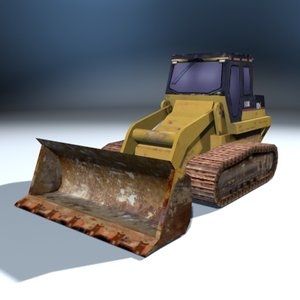 3d model bulldozer construction sites