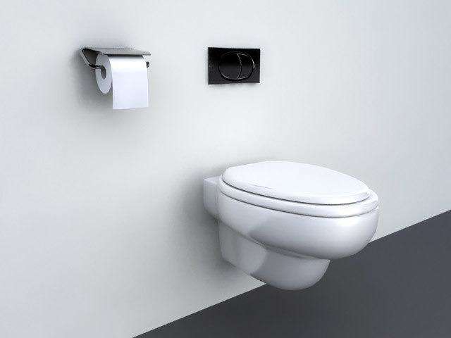 modern bathroom wall hung max