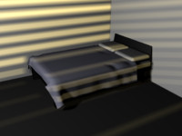 3d bed cover model