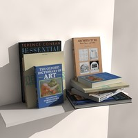 3d architectural books model