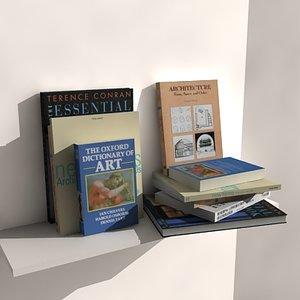3d architectural books model