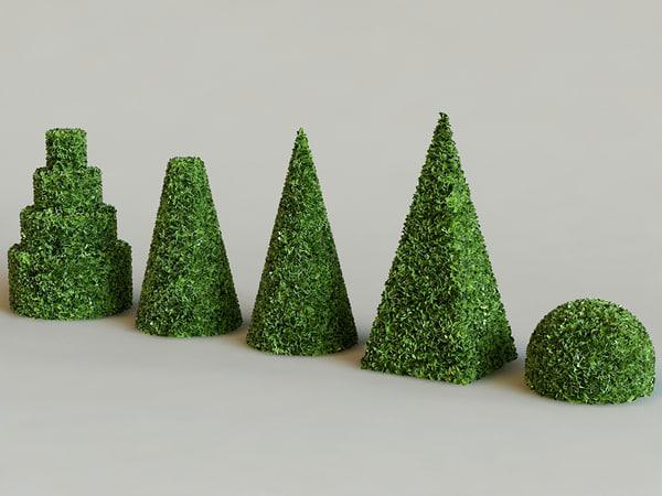3d model hedge bush