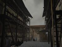 3d model court yard scene