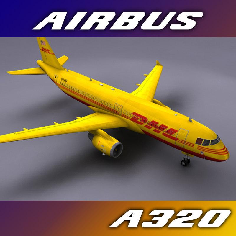 3dsmax airbus a320 dhl