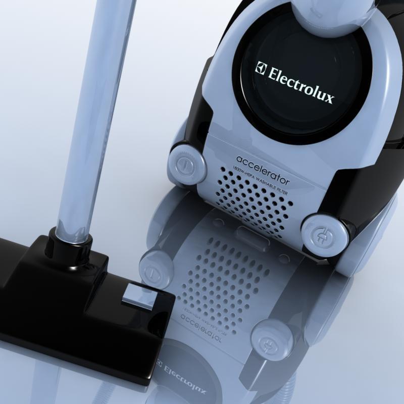 vacuum electrolux miele 3d model
