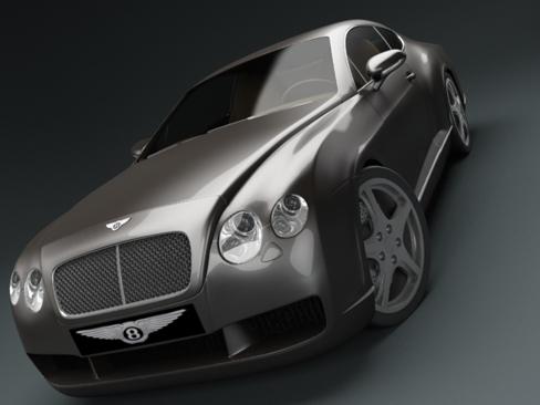 bentley continental gt car 3d model