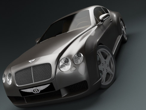 bentley continental gt car 3d model