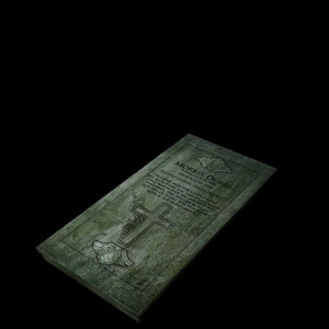 3d grave tombstone model