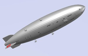 3ds max zeppelin hindenburg