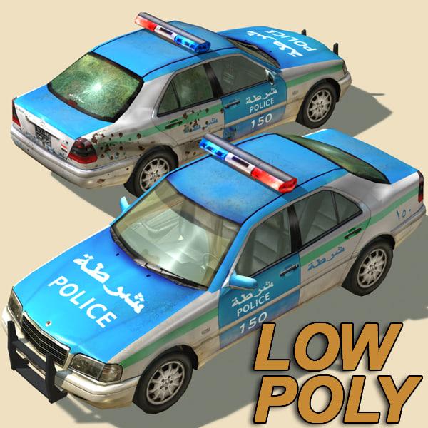 iraqi police car 3d model