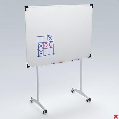 whiteboard board 3d model