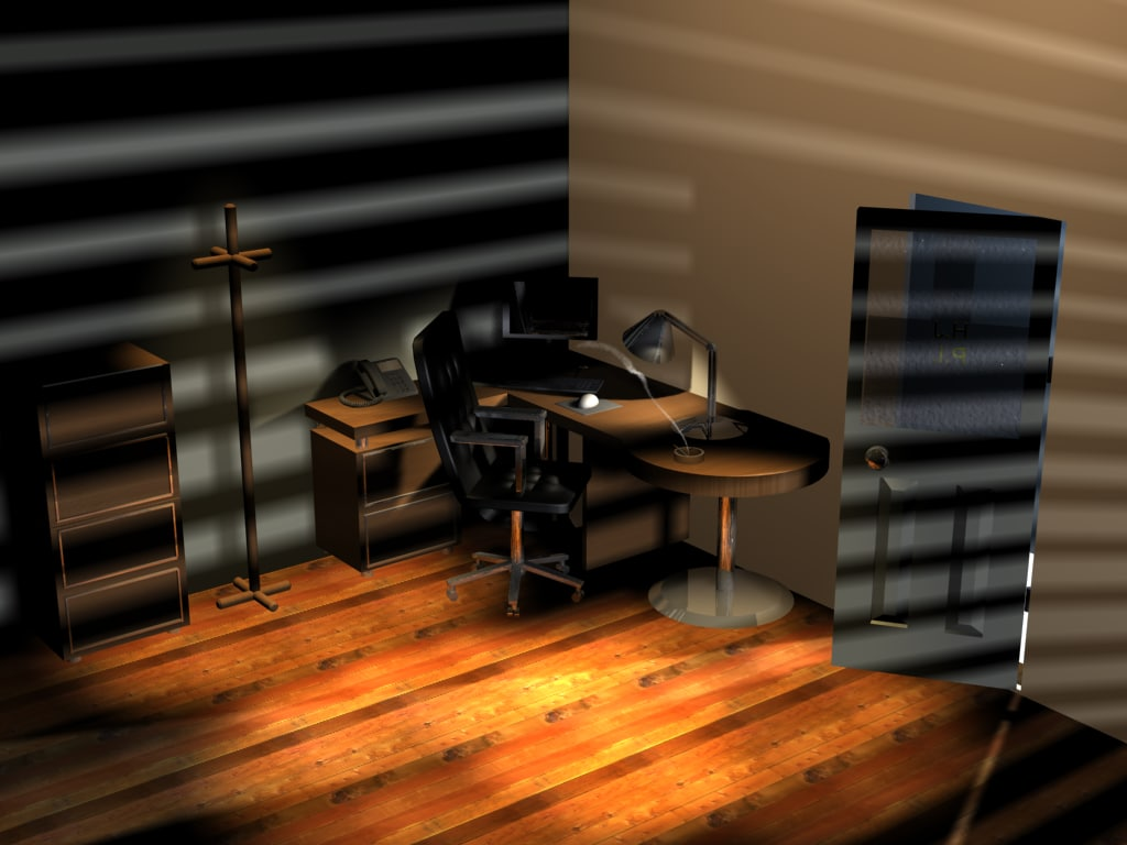 office room 3d max