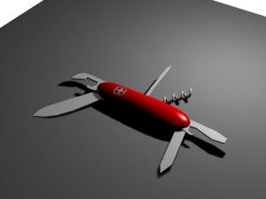 3d multitool penknife model