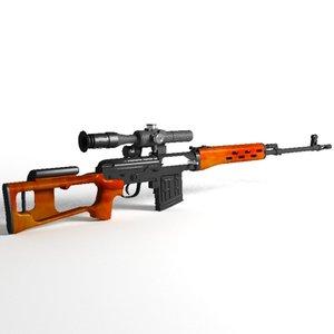 3ds dragunov svd sniper rifle