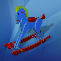 rocking horse toy 3d max