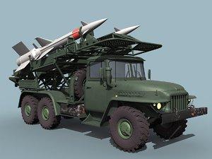 ural sa-3 loader 3d model