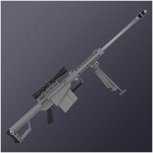 3d model m82a1 rifle sniper