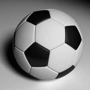 3d model soccer ball 3