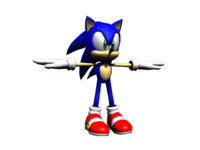 sonic hedgehog 3d model