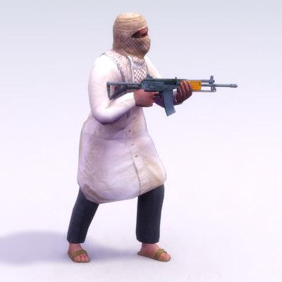 3d model of terrorist galil games
