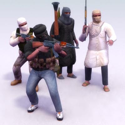3d model rigged terrorist