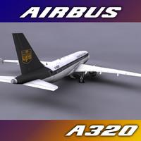 a320 ups 3d model