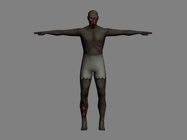 3d male undead zombie character fantasy