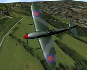 submarine spitfire 3d model