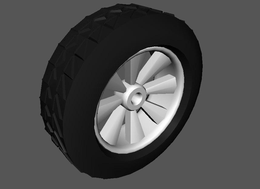 3d dxf car wheel rim tyre