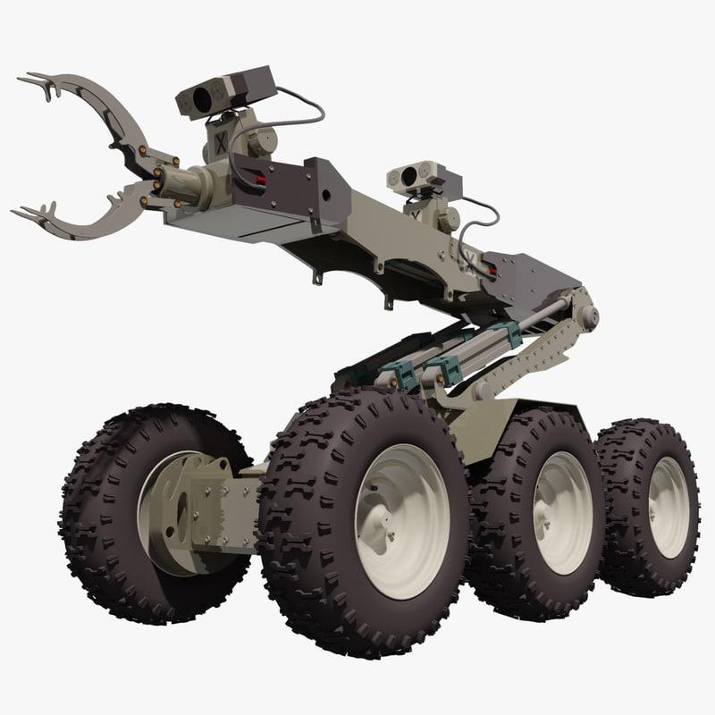 3d eod defender robot model