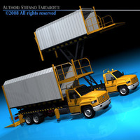 airfield lifting vehicle cargo 3d c4d