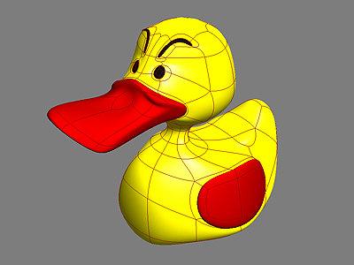 3d rubber duck