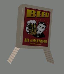 beer hat paper 3d model