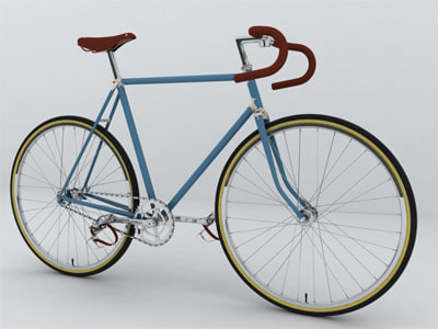 obj vintage bicycle