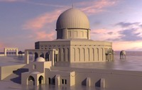 dome rock mosque 3d model
