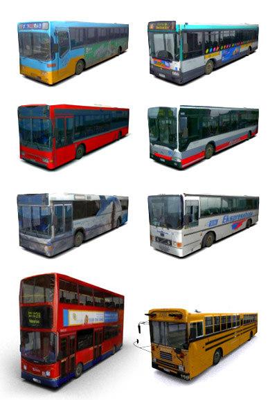 3d model buses school bus