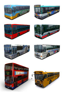 3d model buses school bus