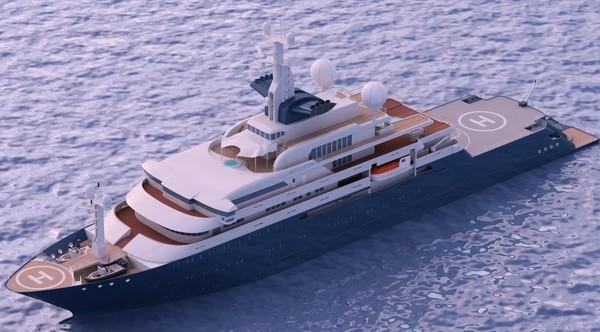 lightwave mega yacht octopus