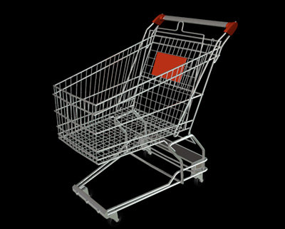shopping cart caddie 3d model