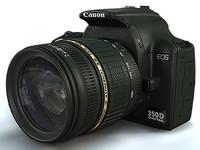3d 3ds eos canon 350d slr
