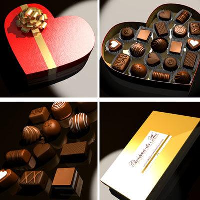 chocolates box 3d model