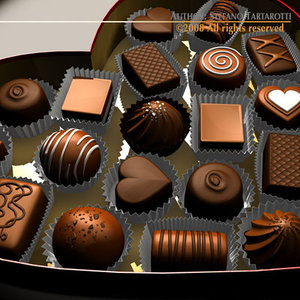 3d model chocolate valentine box