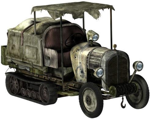 citroen 1920 tractor retro 3d model