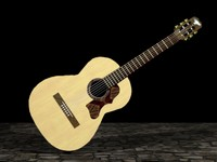 3d model lucia classical guitar